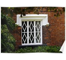 Cottage Window Poster