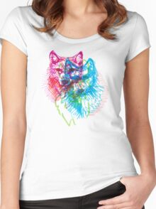 howl 3d Women's Fitted Scoop T-Shirt