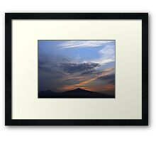 ©HCS Smooth Sunset IA. Framed Print