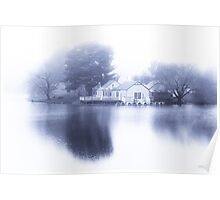 White out at Daylesford Lake Poster