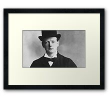 Historical Hipsters - Winston Churchill Framed Print