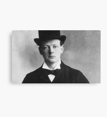 Historical Hipsters - Winston Churchill Canvas Print