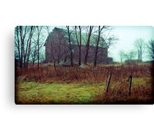 the trees are bending over Canvas Print