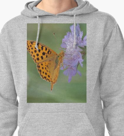 Butterfly on right position (High Brown Fritillary butterfly) Pullover Hoodie