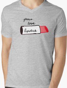 Peace, Love, Lipstick Mens V-Neck T-Shirt