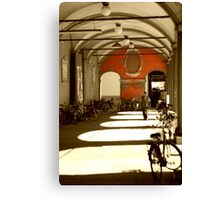 Bicycles in Bologna's sunset Canvas Print