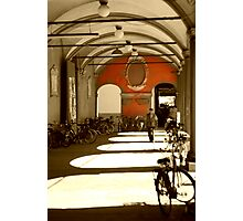 Bicycles in Bologna's sunset Photographic Print