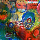 colourful swirl abstract  by H J Field
