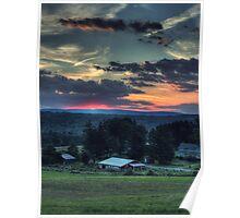 Sunset Over Daweland Farms Poster