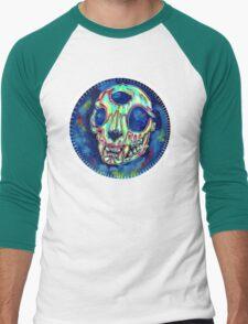 psychedelic psychic cat skull Men's Baseball ¾ T-Shirt