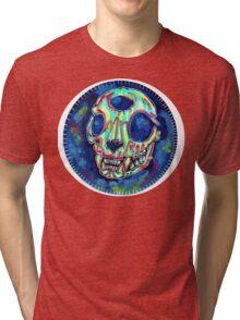 psychedelic psychic cat skull Tri-blend T-Shirt