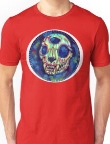 psychedelic psychic cat skull Unisex T-Shirt