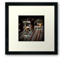Beer at home Framed Print