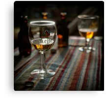 Beer at home Canvas Print