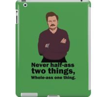 Ron Swanson Honour Code iPad Case/Skin