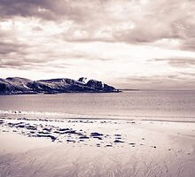 Seascape in black and white by chriscyner