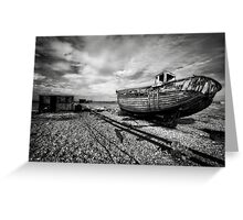 Boat and shed  Greeting Card