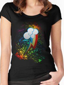 Rainbow Dash Cutie Mark  Women's Fitted Scoop T-Shirt