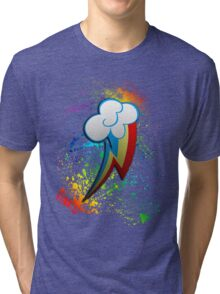 Rainbow Dash Cutie Mark  Tri-blend T-Shirt