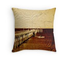 Coastal Memories (Scott Peters, 2009, Digital Mixed Media) Throw Pillow