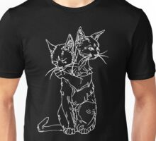 polycephalic cat (white lines) Unisex T-Shirt