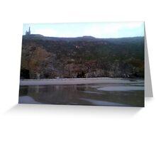 Three Caves At Rinsey Greeting Card