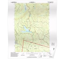 USGS Topo Map Oregon Wapinitia Pass 282012 1996 24000 Poster