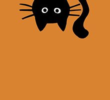 Funny Black Cat by Jenn Inashvili