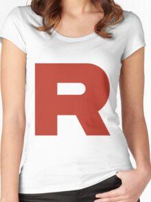R Team Rocket Pokemon Women's Fitted Scoop T-Shirt