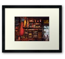 Americana - Store - The local grocers  Framed Print