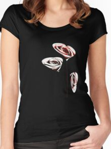 Rose Heart2 Women's Fitted Scoop T-Shirt