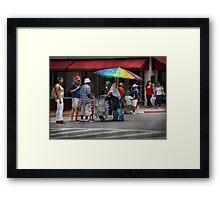 Americana - Buying Ices  Framed Print