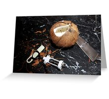 Cracked Coconut Greeting Card