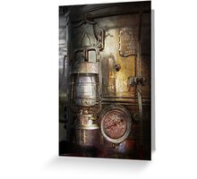 Steampunk - Silent into the night Greeting Card