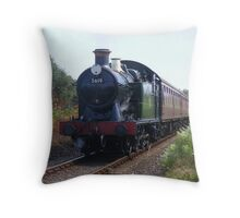 Train Approaching Throw Pillow