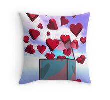 Bursting with love Throw Pillow