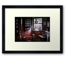 Barber - The country barber  Framed Print