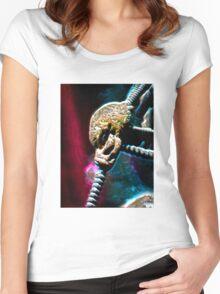 ©DA AS Alien Metal V2. Women's Fitted Scoop T-Shirt