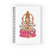 goddess Lakshmi kalamkari white Spiral Notebook