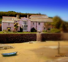 Cottage on Bude Beach by Charmiene Maxwell-batten