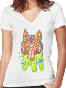 getting ahead in nature Women's Fitted V-Neck T-Shirt