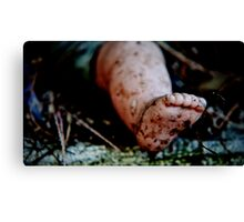 one foot on the ground Canvas Print