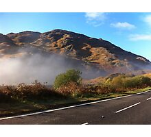A Winter Morning on The Road to The Isles Photographic Print