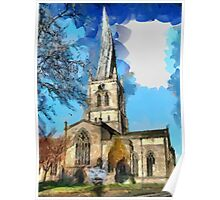 Beautiful Britain - Chesterfield, Derbyshire Poster