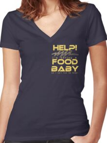 FOOD BABY 01 Women's Fitted V-Neck T-Shirt