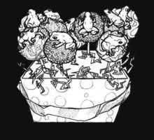 cake pop frog box (black & white) by HiddenStash
