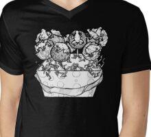 cake pop frog box (black & white) Mens V-Neck T-Shirt