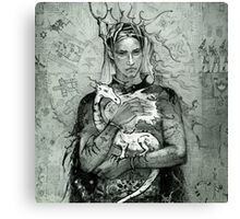 Prince and the little dragon Canvas Print