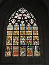 Stained glass window, Cathedral St Michael & St Gudule, Brussels by Margaret  Hyde