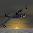 Catalina Sunset  (PBY Catalina) by Walter Colvin